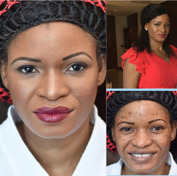 LoveweddingsNG Before and After - Dollface Beauty MUA