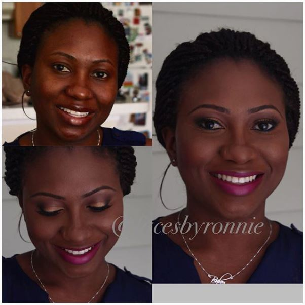 LoveweddingsNG Before and After - Faces by Ronnie