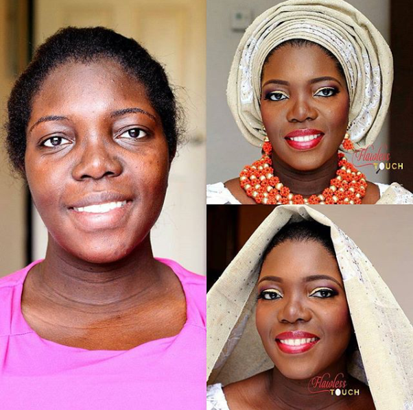 LoveweddingsNG-Before-and-After-Flawless Touch Makeover