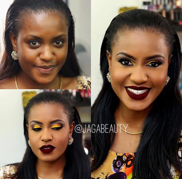 LoveweddingsNG Before and After - Jaga Beauty