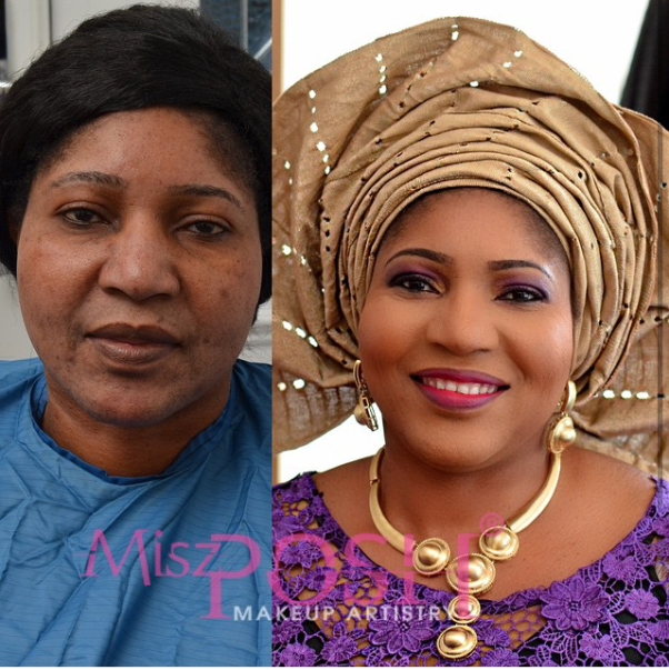 LoveweddingsNG Before and After - Misz Posh MUA2