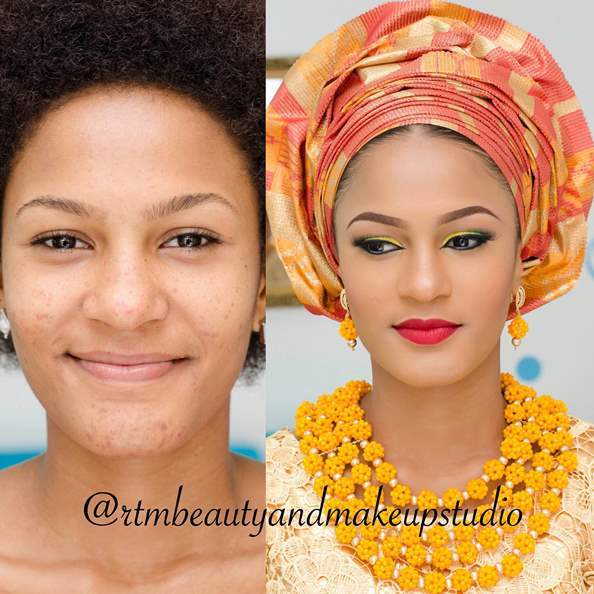 LoveweddingsNG Before and After RTM Beauty and Makeup Studio