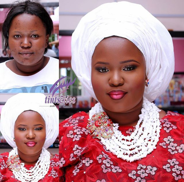 LoveweddingsNG Before and After - Tints and Ties Makeup