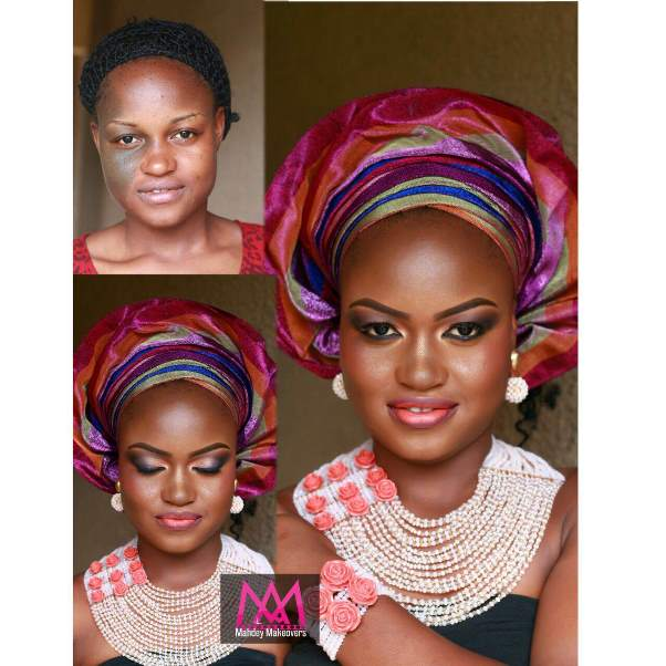 LoveweddingsNG Before and After - makeupbymahdey