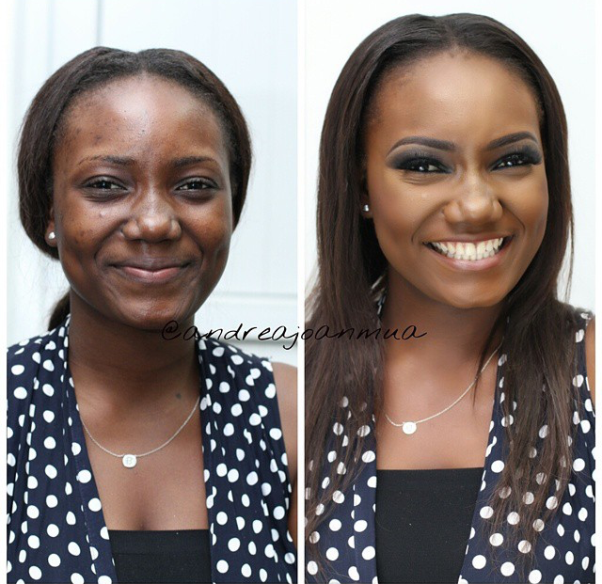 LoveweddingsNG Before meets After - Andrea Joan MUA