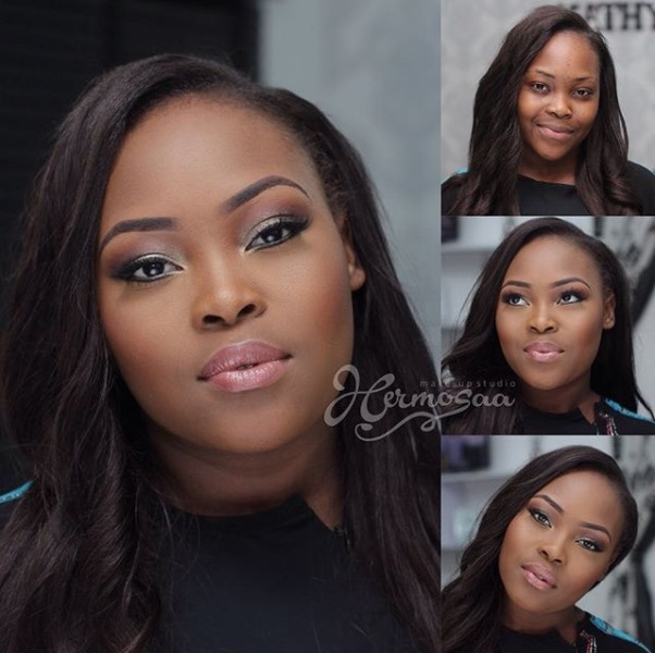 LoveweddingsNG Before meets After - Hermosaa Makeup Studio