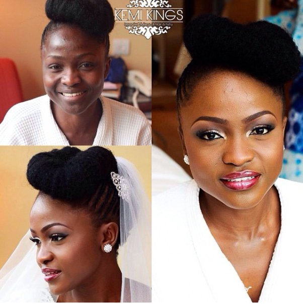 LoveweddingsNG Before meets After - Kemi Kings Makeup