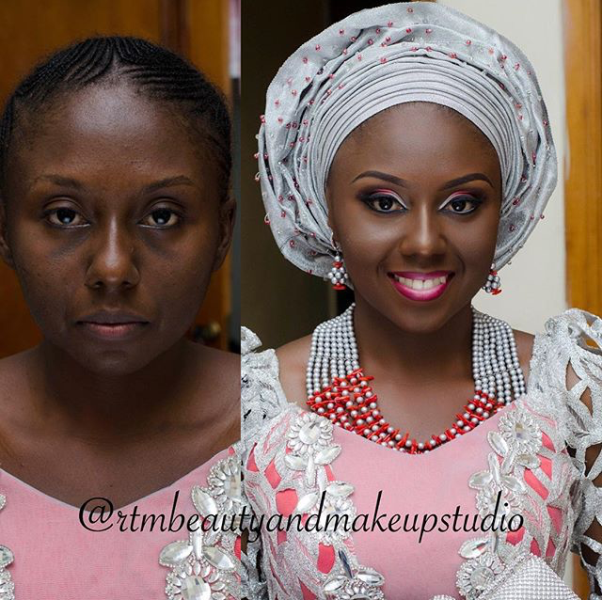 LoveweddingsNG Before meets After - RTM Beauty and Makeup Studio