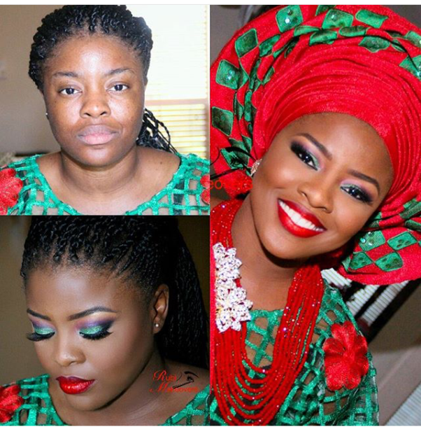 LoveweddingsNG Before meets After - Rubi MUA