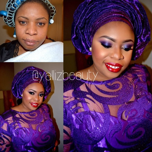 LoveweddingsNG Before meets After - Yalliz Beauty1