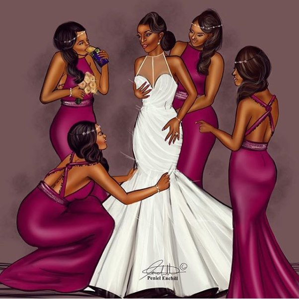 LoveweddingsNG Illustrations - Peniel Enchill