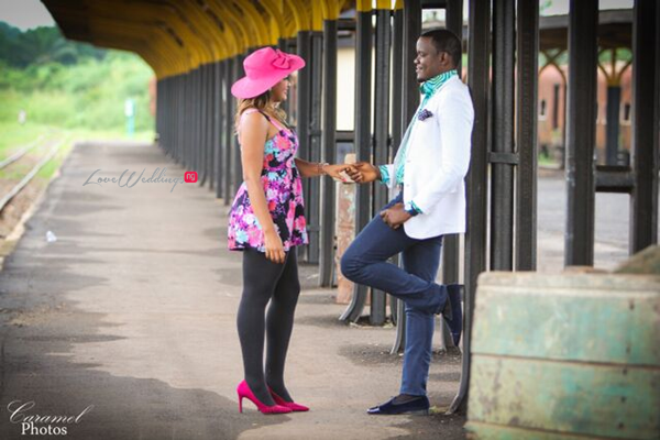 LoveweddingsNG Nigerian Pre Wedding Shoot Location - Coal City rail Caramel Photos