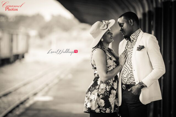 LoveweddingsNG Nigerian Pre Wedding Shoot Location - Coal City rail Caramel Photos1