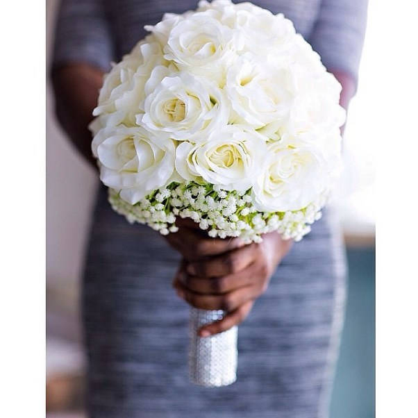 Nigerian Bridal Bouquet by Toylongv Gazmadu Photography LoveweddingsNG