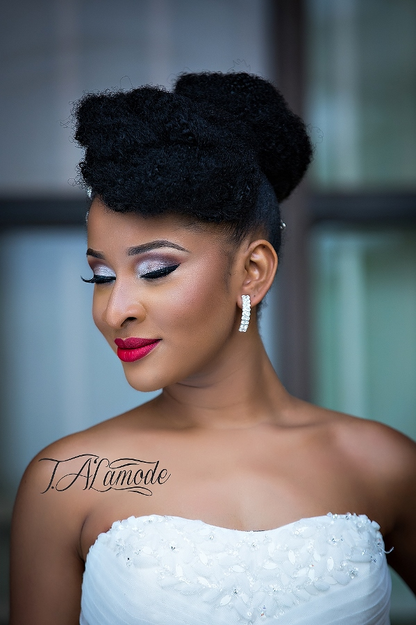 Nigerian Bridal Makeup TAlaMode Makeup LoveweddingsNG - Adesua Etomi
