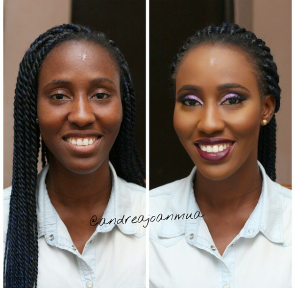 LoveweddingsNG Before and After - Andrea Joan MUA