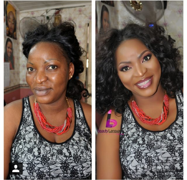 LoveweddingsNG Before and After - Beauty Language Makeover