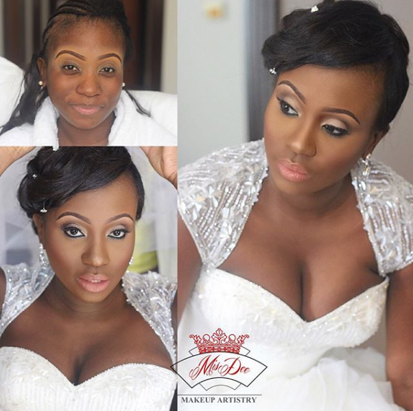LoveweddingsNG Before and After Misdee Makeup7