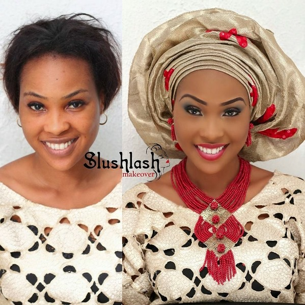 LoveweddingsNG Before and After Slushlash makeover