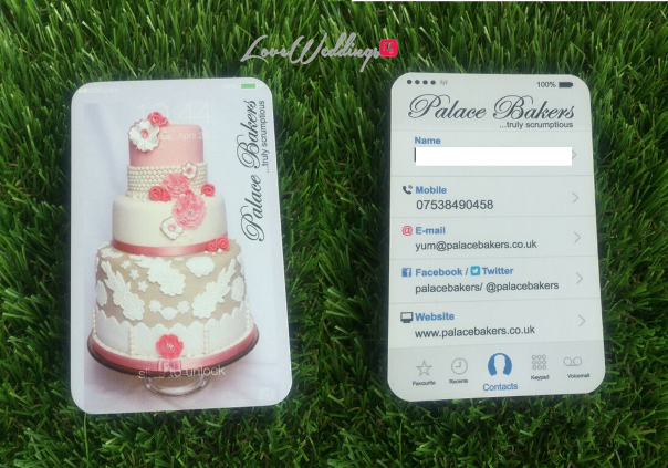 LoveweddingsNG Business Cards - Palace Bakers