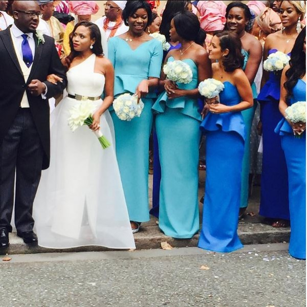 Marcy Dolapo Oni & Gbite Sijuwade's White Wedding LoveweddingsNG3