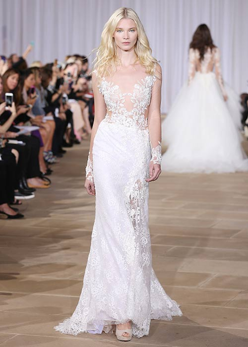 Sheer \'Naked\' Bridal Gowns Take Over New York Bridal Fashion Week