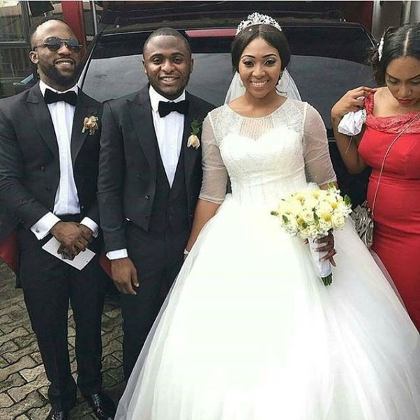 Lilian Esoro & Ubi Franklin White Wedding LoveweddingsNG - Iyanya