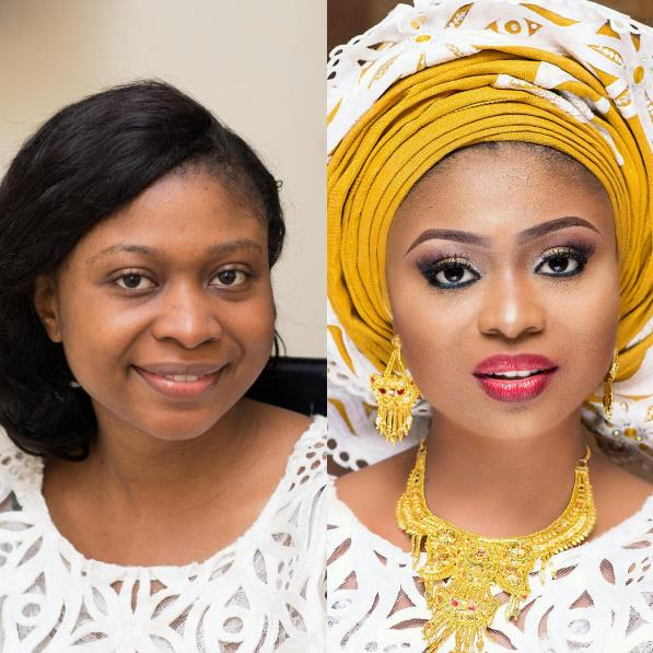 LoveweddingsNG Before and After Glamtouch
