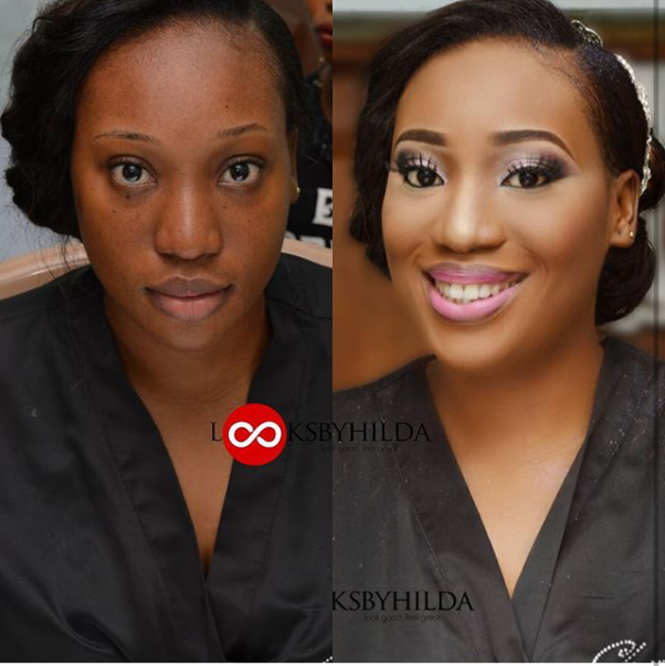 LoveweddingsNG Before and After Looks by Hilda