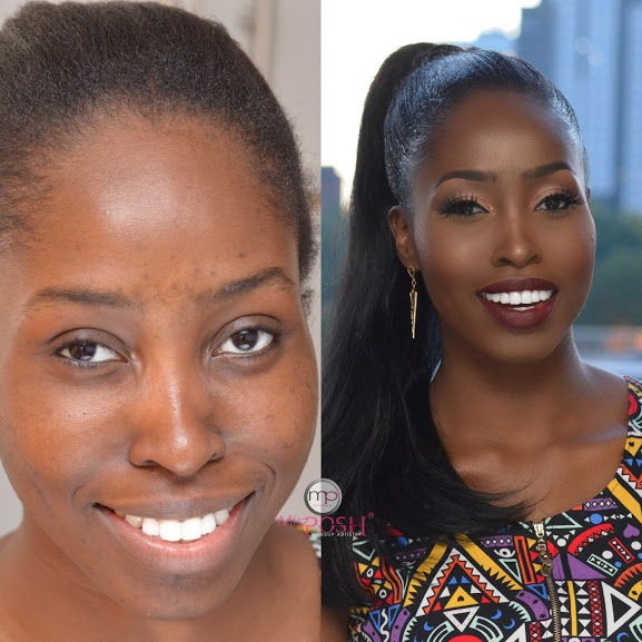 LoveweddingsNG Before and After Misz Posh MUA