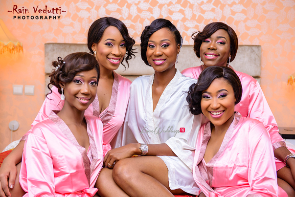 LoveweddingsNG Uche & Tochukwu Rain Vedutti Photography bride and bridesmaids