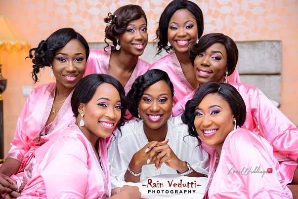 LoveweddingsNG Uche & Tochukwu Rain Vedutti Photography bride and bridesmaids1