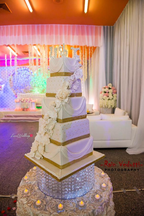 LoveweddingsNG Uche & Tochukwu Rain Vedutti Photography cake