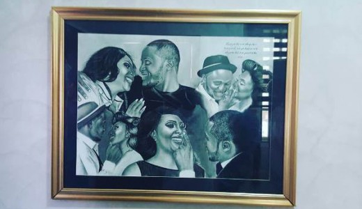 Nigerian Wedding Illustration - Ubi Franklin Lilian Esoro Fola David LoveweddingsNG