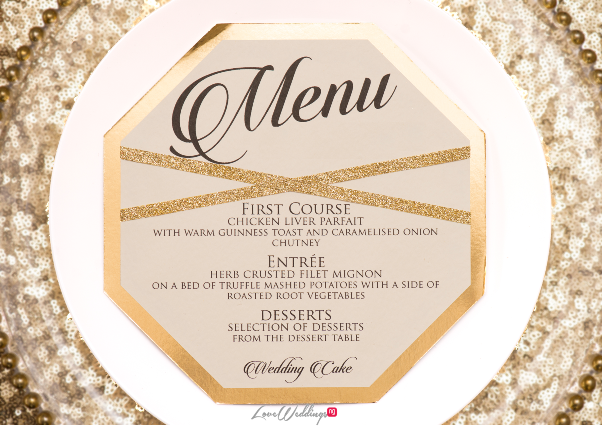 Nigerian Wedding Menu - Ollies Studio