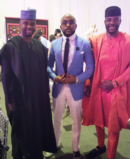 Tosyn Bucknor and Boyer Aurelien White Wedding LoveweddingsNG - Debola Lagos, Banky W, Ebuka Obi-Uchendu