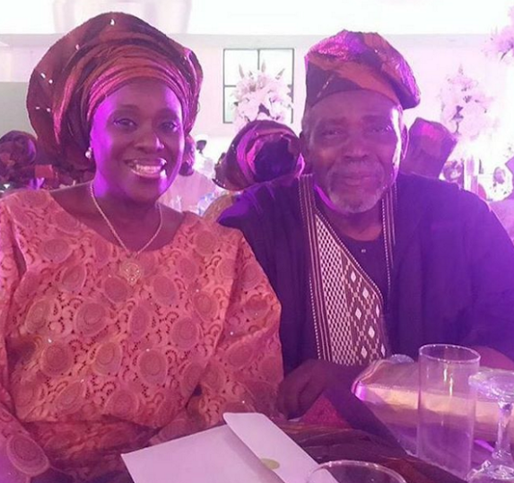 Tosyn Bucknor and Boyer Aurelien White Wedding LoveweddingsNG - Joke and Olu Jacobs