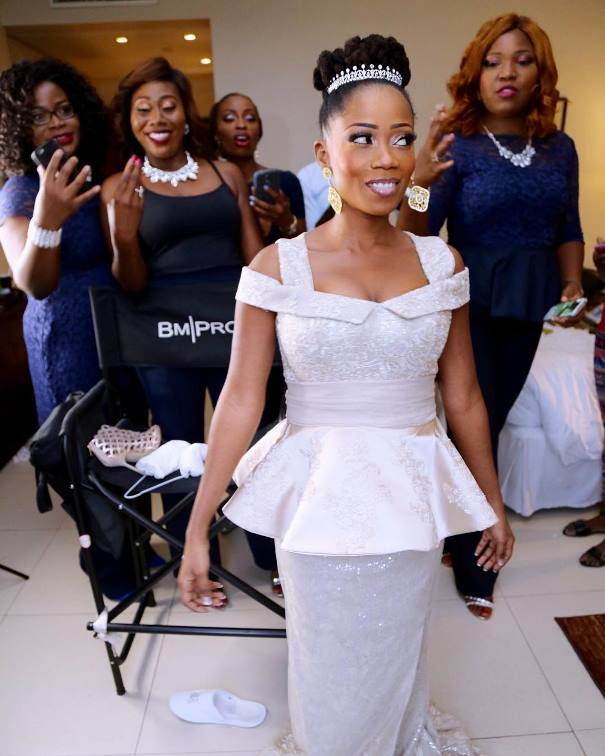 Tosyn Bucknor and Boyer Aurelien #YoruFrench White Wedding LoveweddingsNG
