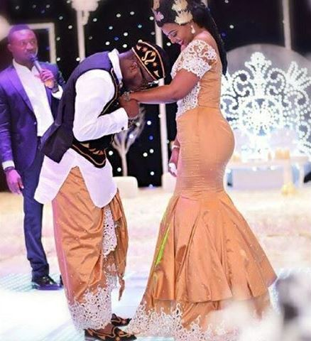 Ubi Franklin and Lilian Esoro White Wedding LoveweddingsNG4