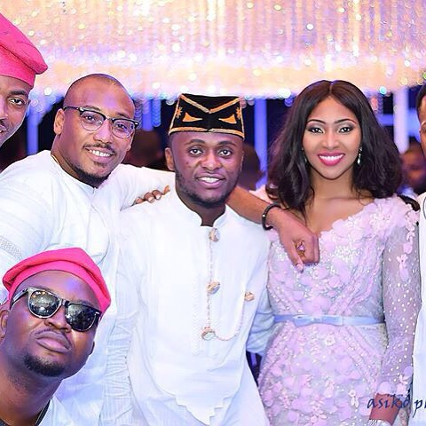 Ubi Franklin and Lilian Esoro White Wedding LoveweddingsNG5