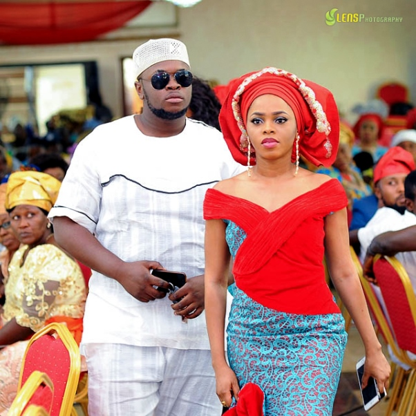Chidinma Ekile's sister - Gift weds Chucks LoveweddingsNG 3