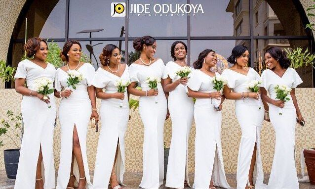 Nigerian Bridesmaids in White Nigerian Wedding Trends 2015 - LoveweddingsNG