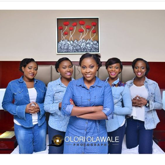 Nigerian Wedding Alternatives to bridal robes Denim Olori Olawale Photography LoveWeddingsNG