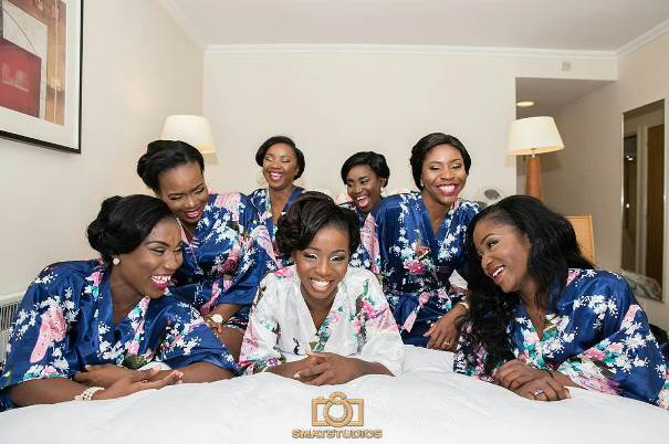 Nigerian Wedding Trend - Silk bridal robes Gazmadu Photography LoveweddingsNG 1