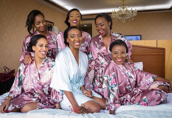 Nigerian Wedding Trend - Silk bridal robes Gazmadu Photography LoveweddingsNG