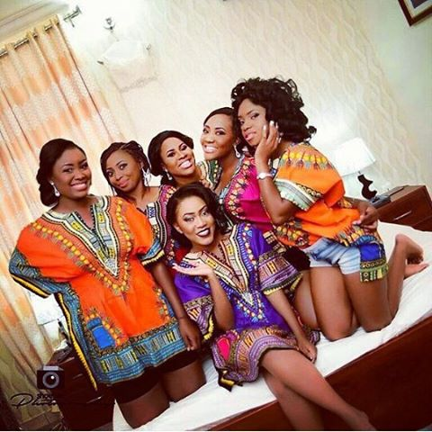Nigerian Wedding Trends 2015 - Bride and Bridesmaids in Dashiki LoveweddingsNG 1