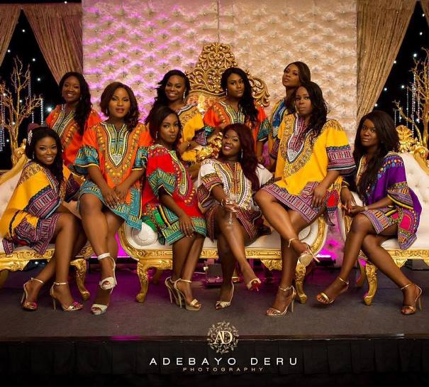 nigerian wedding trends 2015   bride and bridesmaids in