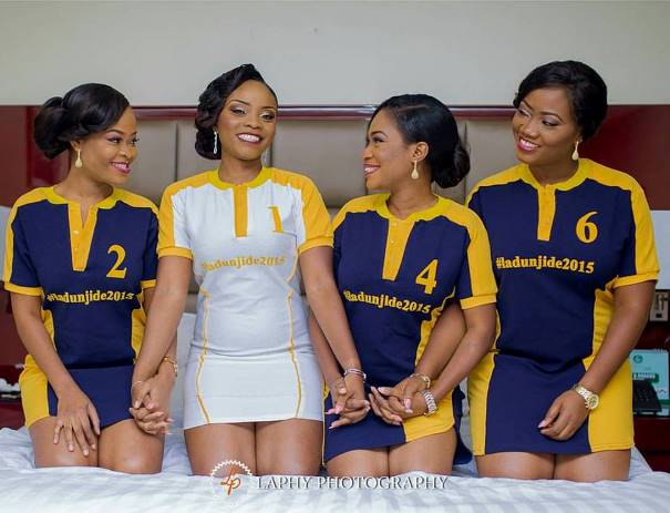 Nigerian Wedding Trends 2015 - Bride and Bridesmaids in Sports LoveweddingsNG