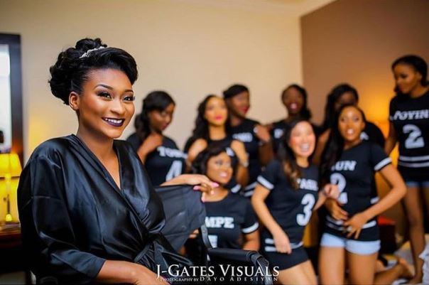 Nigerian Wedding Trends 2015 - Bride and Bridesmaids in Sportswear LoveweddingsNG