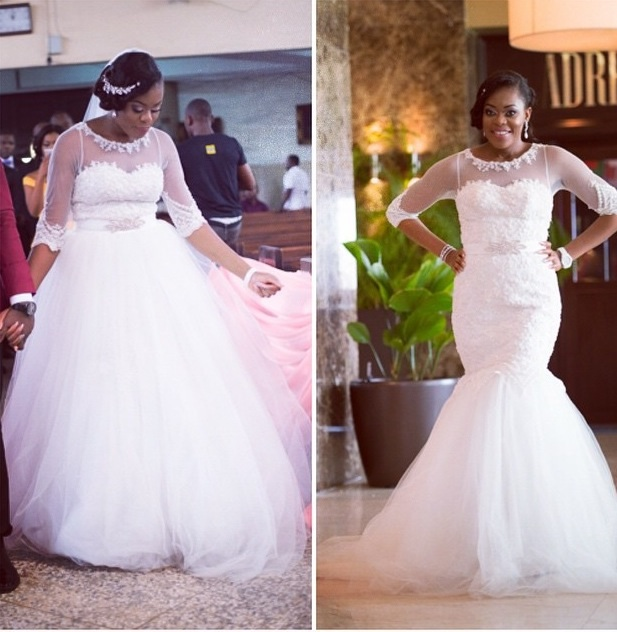 Nigerian Wedding Trends 2015 - Two in One Gown April by Kunbi LoveweddingsNG